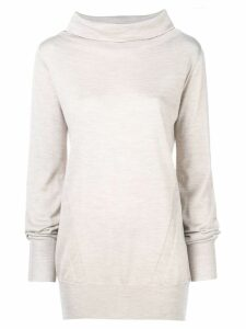 Eleventy funnel neck knitted sweatshirt - NEUTRALS