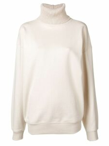Helmut Lang roll neck sweatshirt - White