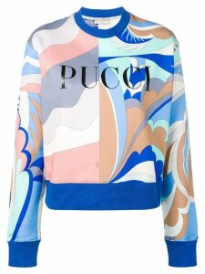 Emilio Pucci Acapulco Print Logo Sweatshirt - Blue
