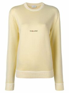 Saint Laurent logo sweatshirt - Yellow