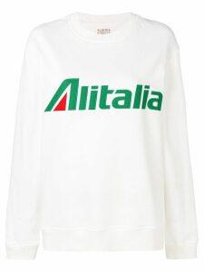 Alberta Ferretti Alitalia sweatshirt - White