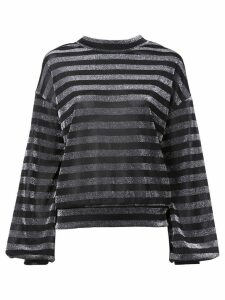 RtA striped lurex sweatshirt - Black