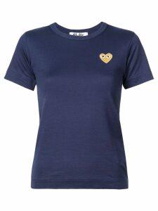 Comme Des Garçons Play 'Gold Heart' T-shirt - Blue