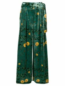 Ailanto floral print trousers - Green