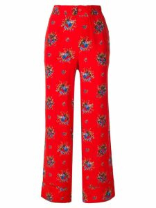 GANNI floral trousers - Red