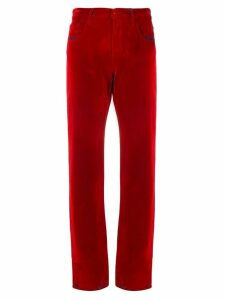 Mm6 Maison Margiela straight leg trousers - Red