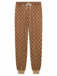 Gucci GG technical jersey jogging pant - NEUTRALS