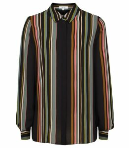 Reiss Lova - Striped Shirt in Multi, Womens, Size 14