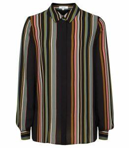 Reiss Lova - Striped Shirt in Multi, Womens, Size 14
