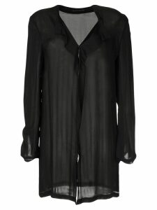 Yohji Yamamoto Pre-Owned long-sleeve slouched shirt - Black
