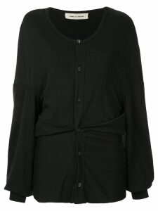 Comme Des Garçons Pre-Owned ruched long-sleeve cardigan - Black