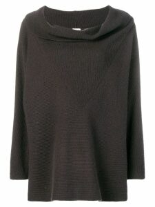 Giorgio Armani Pre-Owned cowl neck jumper - Grey