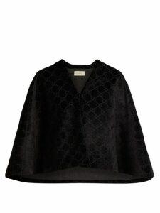 Gucci - GG Velvet Cape - Womens - Black