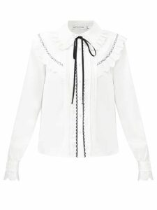 The Upside - Phoenix Embroidered Cotton Sweatshirt - Womens - Burgundy White