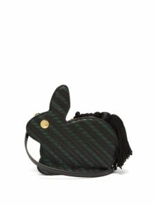Hillier Bartley - Bunny Striped Lizard-effect Leather Bag - Womens - Black Green