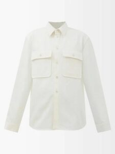 Matteau - The Long Sleeve Cotton Shirt - Womens - Cream