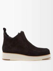 Muzungu Sisters - Taj Hand-embroidered Cotton Mini Dress - Womens - Pink Navy