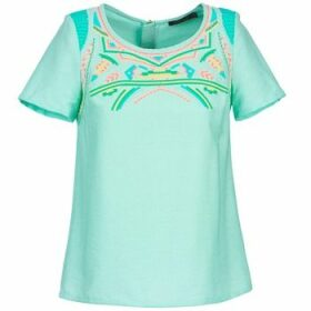 Color Block  ADRIANA  women's Blouse in Blue