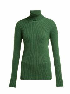 Hillier Bartley - Roll Neck Ribbed Cashmere Sweater - Womens - Green