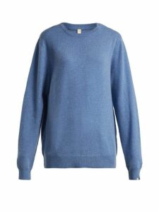 Extreme Cashmere - No.36 Be Classic Stretch-cashmere Sweater - Womens - Blue