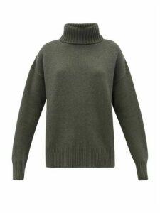 Extreme Cashmere - No. 20 Oversize Xtra Stretch-cashmere Sweater - Womens - Khaki