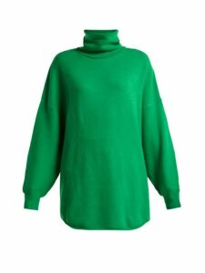 Extreme Cashmere - No. 52 Roll Stretch Cashmere Sweater - Womens - Green