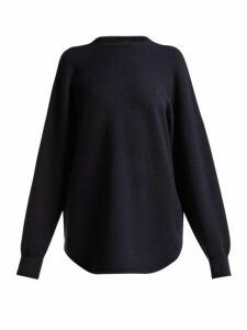 Extreme Cashmere - No. 53 Crew Hop Stretch Cashmere Sweater - Womens - Navy