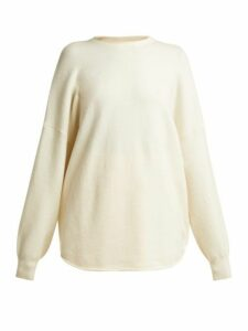 Extreme Cashmere - No. 53 Crew Hop Stretch Cashmere Sweater - Womens - Cream