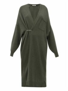 Extreme Cashmere - No. 61 Koto Long Line Stretch Cashmere Cardigan - Womens - Khaki