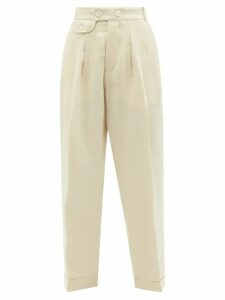 Hillier Bartley - Dropped-shoulders Silk Top - Womens - Silver