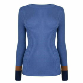 Boss Slim Fit Colour Block Cuff Jumper