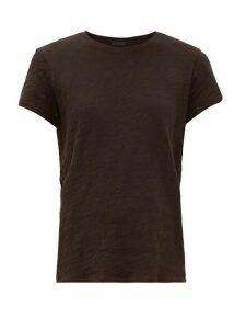 Atm - Schoolboy Cotton Slub-jersey T-shirt - Womens - Black