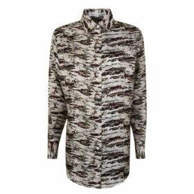 Victoria Beckham Silk Camouflage Shirt