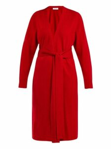 Ryan Roche - Tie Waist Cashmere Cardigan - Womens - Red