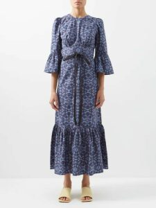 See By Chloé - Taffeta Ruffled Top - Womens - Black