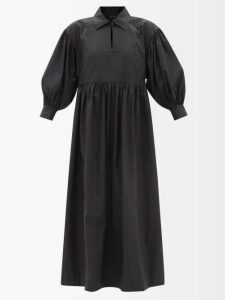 Chloé - Roll-neck Silk Crepe De Chine Blouse - Womens - Beige