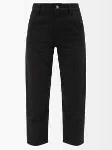 Chloé - Roll-neck Silk-panel Wool Sweater - Womens - Red