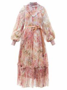 Stella Mccartney - Bryce Inverted Lapel Wool Coat - Womens - Beige