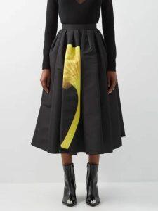 Emilia Wickstead - Beatrice Floral-print Sateen Dress - Womens - Multi