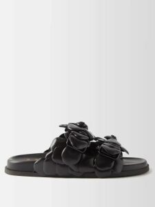 Peter Pilotto - Tie-neck Grosgrain-trimmed Satin Blouse - Womens - Pink