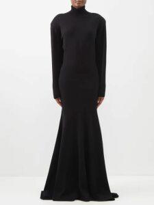 Borgo De Nor - Francesca Floral-print Crepe Dress - Womens - Black Print