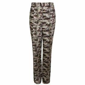 Victoria Beckham Silk Camouflage Trousers