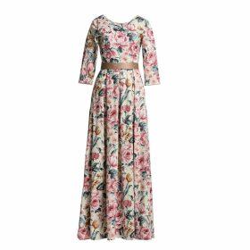 MATSOUR'I - Aurora Dress Gold Floral