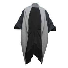 Zalinah White - Adele Bias Cut Maxi Check Dress In Black & White Gingham With Neck Bow
