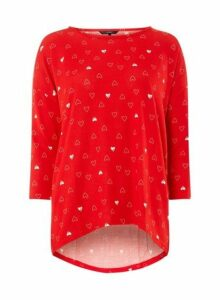 Womens **Vero Moda Red 3/4 Sleeve Christmas Top, Red