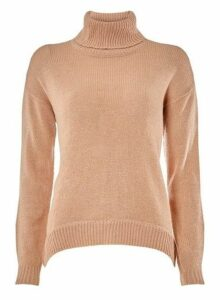 Womens **Vero Moda Pink Roll Neck Jumper, Pink
