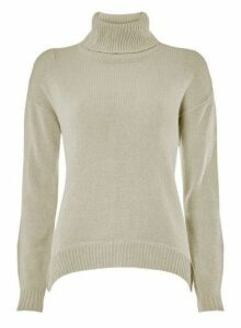 Womens **Vero Moda Grey Roll Neck Jumper, Grey