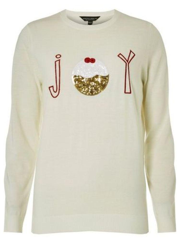 Womens Ivory 'Joy' Jumper- White, White