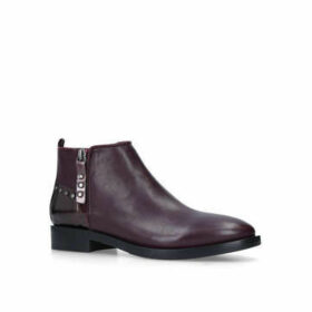Womens Delta Geox Ankle Boots Medium Heel 21-55Mm Wine, 3 UK