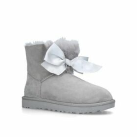 Womens Gita Bow Mini Ankle Boots Ugg Grey, 5 UK